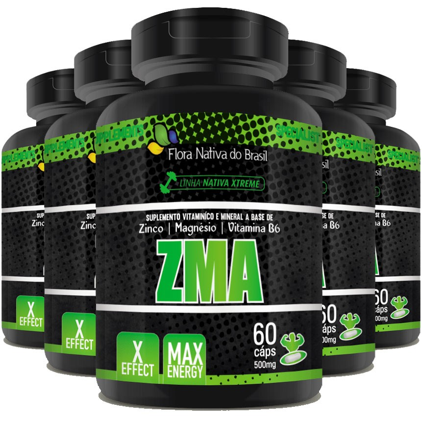 ZMA - Original - 500mg - 05 Potes   - LA Nature