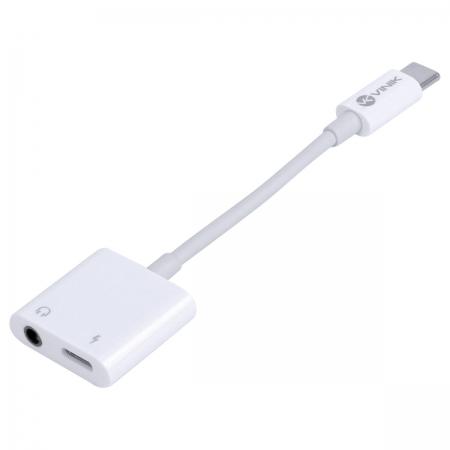 Adaptador de Audio P2 + Carregador para USB Tipo C - ADPATC7.1