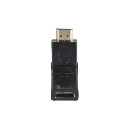 Adaptador HDMI EVUS Macho para HDMI Femea Angulo 360O Ouro