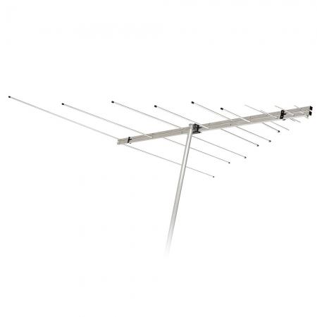 Antena Externa LOG Periodica Aquario LVU-12 4 em 1 VHF/UHF/FM e HDTV 12 Elementos