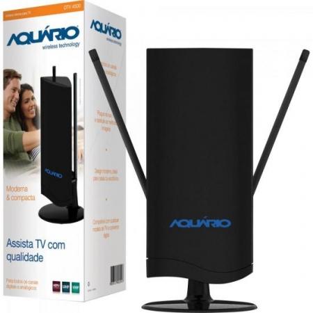 Antena Interna TV VHF/UHF/FM/HDTV Digital DTV4500 Aquario