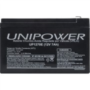 Bateria Unipower UP1270E 12V 7.0AH F187 Nao Automotiva