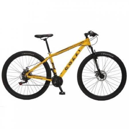 Bicicleta Colli Aluminio ARO 29 Freio a Disco Shimano 21 Marchas  - 531.02M Amarelo Fosco