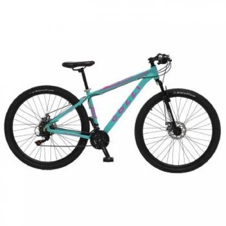 Bicicleta Colli Aluminio ARO 29 Freio a Disco Shimano 21 Marchas  - 531.44M AZUL Tiffany / Rosa