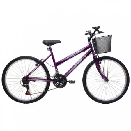 Bicicleta Feminina ARO 26 21 Marchas Bella - 310920 Roxo