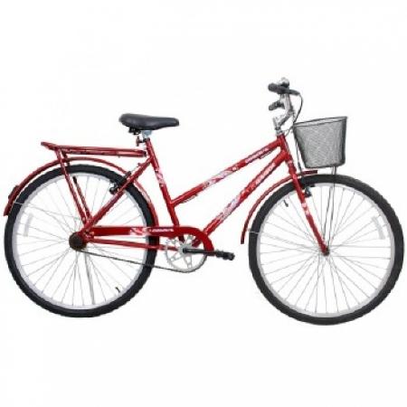 Bicicleta Feminina ARO 26 Genova  - 310122 Vermelho
