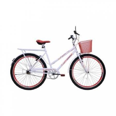Bicicleta Feminina ARO 26 Genova  - 311010 BRANCO/VERMELHO