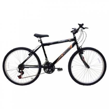 Bicicleta Masculina ARO 26 21 Marchas FLASH POP Bike - 310919 Preto