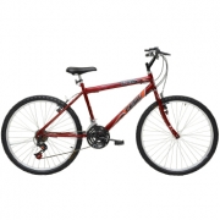 Bicicleta Masculina ARO 26 21 Marchas FLASH POP Bike - 310954 Vermelho