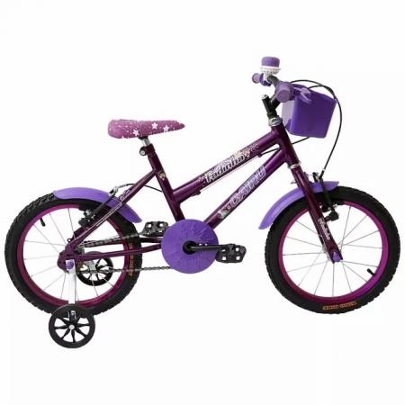 Bicileta ARO 16 com Cesta FEM. Fadinha Cairu - 319369 Lilas