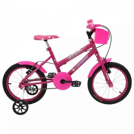 Bicileta ARO 16 com Cesta FEM. Fadinha Cairu - 319370 ROSA/PINK