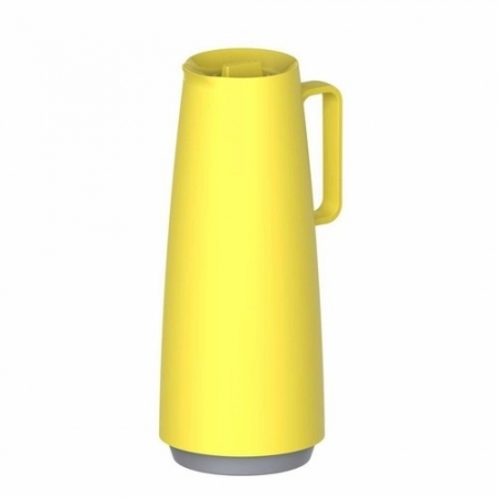 Bule Termico Exata em Polipropileno Amarelo com Ampola de Vidro 1 L