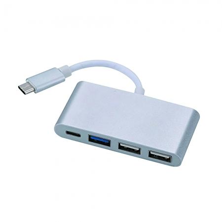 Cabo Adaptador USB C Macho 1 X USB C + USB 3.0 e 2.0 Femea