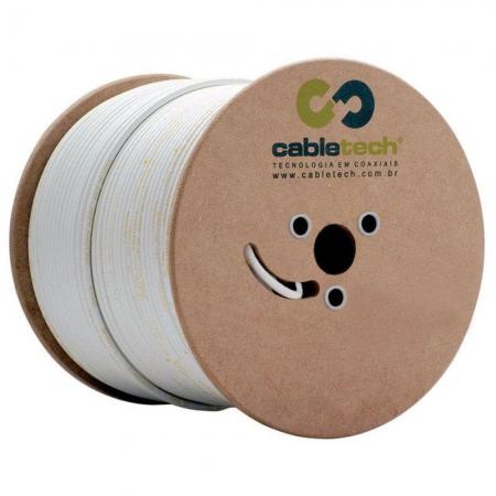 Cabo Coaxial Cabletech RGC-59 67% Branco - 305 Metros 801216700P00CB22
