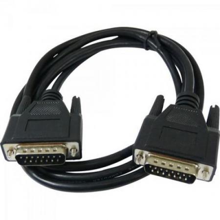 Cabo DB15 X DB15 Padrao Apple 1,8 Metros Preto PLUS Cable