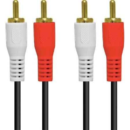 Cabo de Audio 2RCA X 2RCA 1.5 Metros com Conectores Dourado - 2RCA-15G