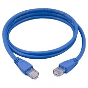 Cabo de Rede PLUS Cable PC-CBETH10001 PATCH CORD CAT5E AZUL 10 Metros