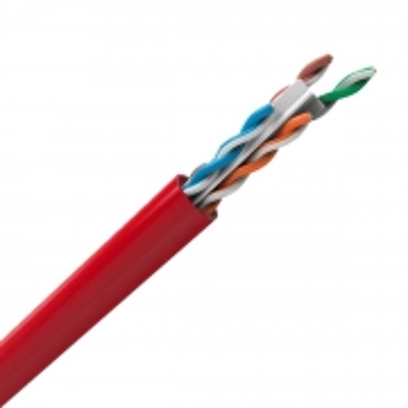 Cabo LAN U/UTP 24AWG X 4 Pares CAT.6 CMX 305 Metros Vermelho 23400207
