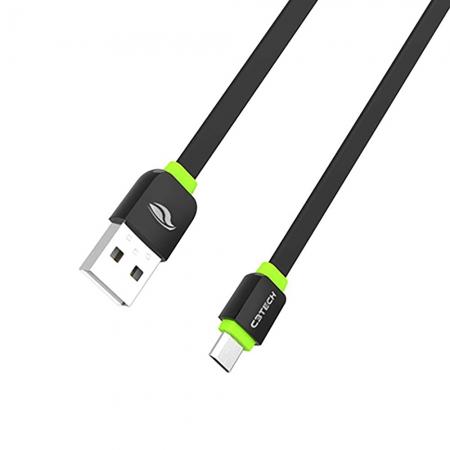 Cabo USB Micro para Android C3TECH CB-100BK 1 Metro 2.0A Preto