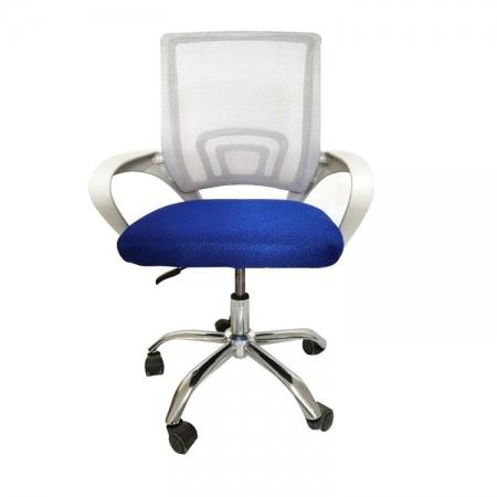 Cadeira de Escritorio PCTOP Home Office FIT Branca com AZUL - 1001