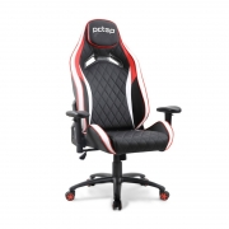 Cadeira Gamer PCTOP Premium Vermelho+branco+preto - 1020