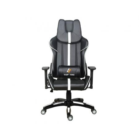 Cadeira Gamer TOP TAG Giratoria Preta e Branca (HS101WTI)