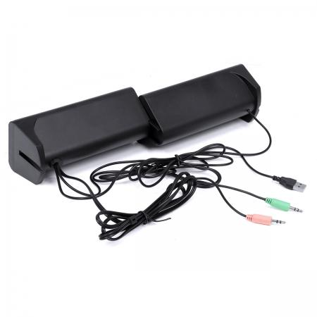 Caixa de Som 2.0 Dual 6W com Bluetooth e Entrada para Fone e Microfone - CXDU-BT