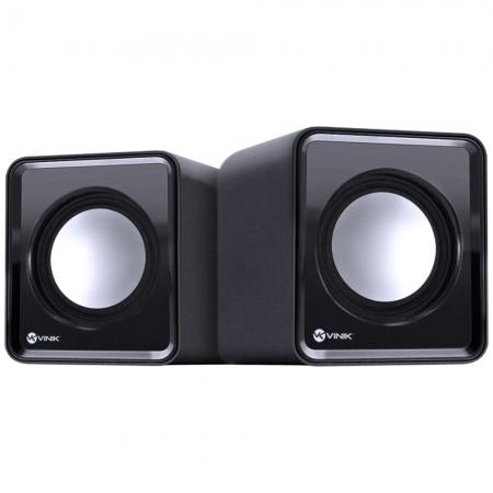 Caixa de Som 2.0 USB 5V 2X 1W com Controlador de Volume - VS-01 - *VNK*