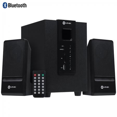 Caixa de Som 2.1 Groove 20W Subwoofer 2 Caixas Satelite Bluetooth FM e Controle REMOTO-CXGRO20W