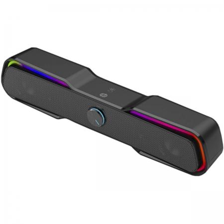 Caixa de Som 2X3W Speaker 2.0 Iluminacao de LED DHE-6002 Preta