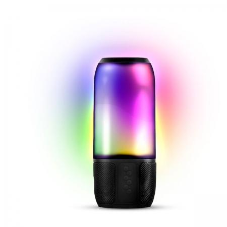 Caixa de Som BLUETOOTH//USB/SD LIGHT SHOW 8W com Bateria e Iluminacao