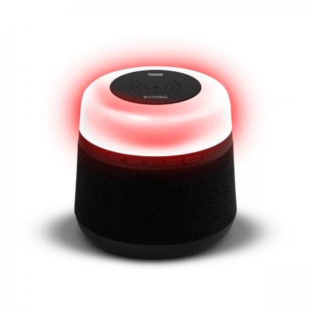 Caixa de Som BLUETOOTH/USB/SD W-CHARGE 15W com Bateria Interna e Iluminacao