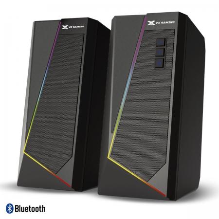 Caixa de Som Gamer 2.0 BLAST RGB LED 10W com Funcao Bluetooth - CXBLRGB10W