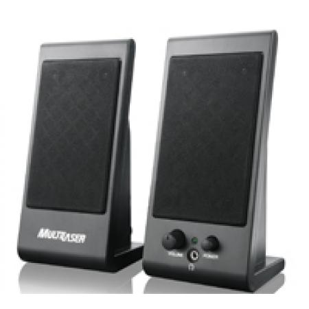 Caixa de Som Multilaser 3W RMS USB Preto FLAT SP009