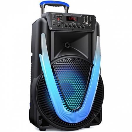 Caixa de Som SUNNY II 500W 12 Polegadas BT/AUX/SD/USB/FM/LED SP395