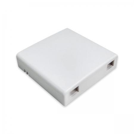 Caixa Roseta FTTH para 2 Acopladores SC Branca WT-3064A