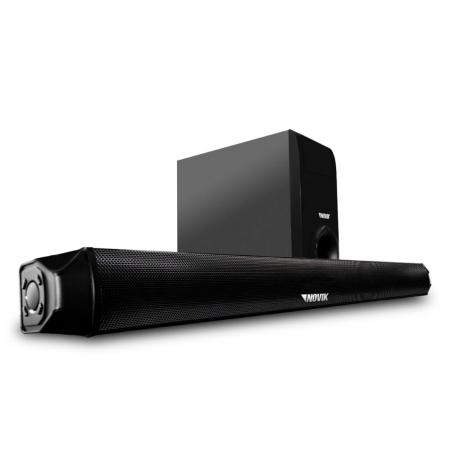 Caixa Soundbar 2.1 + Subwoofer INFINITY 8 com Bluetooth e USB 150W com Controle Remoto Bivolt