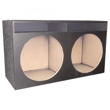 Caixa Vazia para 2 ALTO Falante 15 Polegadas Modelo Turbo, Rasgada Superior, Corvin e Acarpe