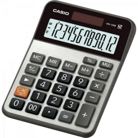 Calculadora de Mesa 12 Digitos MX-120B Cinza Casio