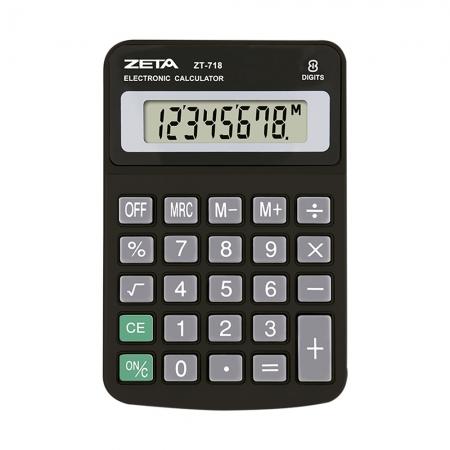 Calculadora de Mesa Zeta ZT718 8 Digitos Preta