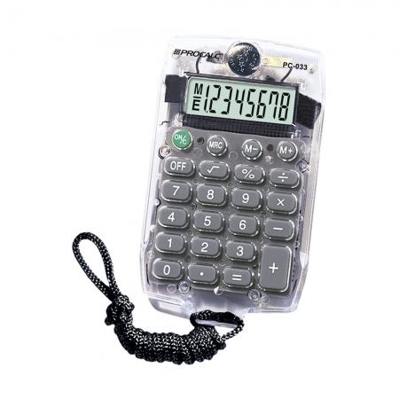 Calculadora Pessoal Procalc PC033 8 Digitos Cordao Cinza