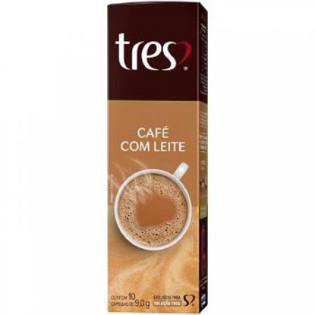 Capsula de Cafe TRES Coracoes Cafe com Leite 10UND - 12156000