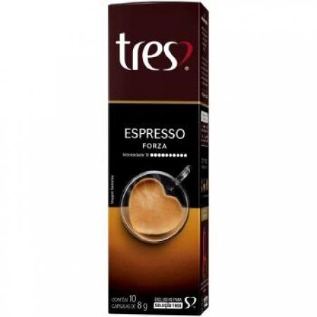 Capsula de Cafe TRES Coracoes Espresso Forza 10UND - 12151065