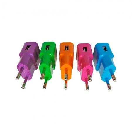 Carregador de Parede USB Multilaser Smartogo CB080 Display Sortido