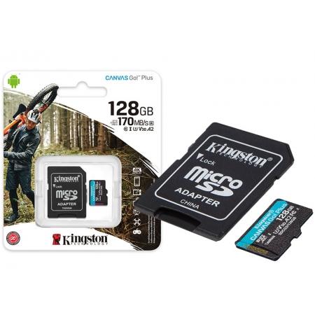Cartao de Memoria Classe 10 SDCG3/128GB Micro SDXC 128GB 170R-90W U3 V30 A2 Canvas GO PLUS