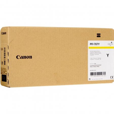 Cartucho de Tinta Canon PFI-707 Y 700ML - 9824B001AA