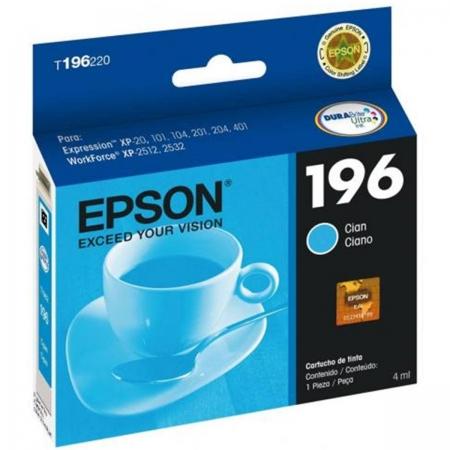 Cartucho EPSON Ciano 4ML - T196220-BR