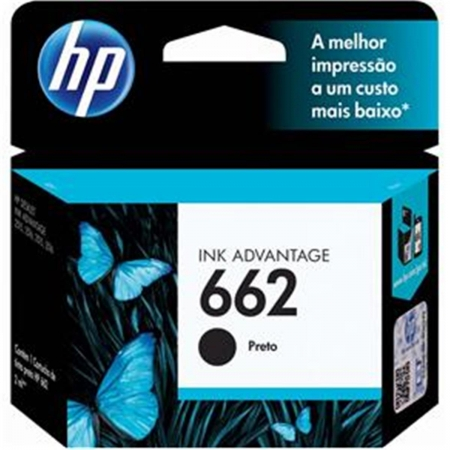 Cartucho HP 662 Preto 2ML - CZ103AB