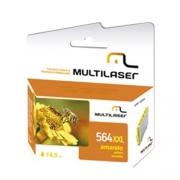 Cartucho Jato de Tinta Multilaser Compativel para HP MOD564 Amarelo - CO567