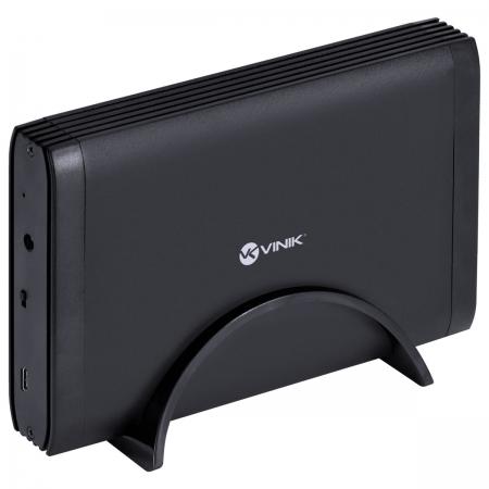 Case Externo para HD 3.5  USB 3.0 com Chave I/O Tipo C para USB Preto - CH35-AC3
